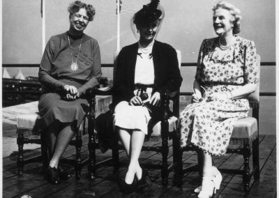 Eleanor Roosevelt, Princess Alice, and Clementine Churchill at Quebec Canada for conference